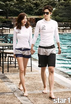 Park Han Byul and Gong Myung - Star1 Magazine July Issue '15