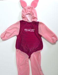 Piglet Jumpsuit 18 24 Month Disney Costume Pig Ear Hoodie Plush Winnie the Pooh Halloween costume.