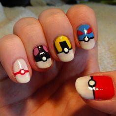 32 Best Pokémon GO Inspired Nails – Gotta Catch 'Em All! View Them All Here --> http://www.nailmypolish.com/best-pokemon-nails/