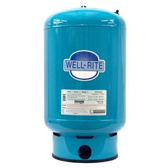 The Well-Rite WR-60 Well Pressure Tank is a diaphragm type pre-charged hydro-pneumatic tank designed for residential and commercial water well, pressure booster, irrigation and reverse osmosis systems. The unique design of the WR-60 well water storage tank prevents tank corrosion and reduces wear and tear on your well pump. Features: Stainless steel system connection Brass Air Valve with o-ring seal Controlled Action Diaphragm maximizes drawdown Heavy duty butyl diaphragm Appliance quality ureth Well Water Pressure Tank, Water Storage Tanks, Reverse Osmosis System, Tank Design, Water Well, Water Systems, Irrigation, Wellness, Stainless Steel