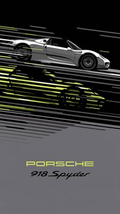 Porsche 918  Retro looking poster designs by Porsche to attract a new generation of fans on Instagram and Mobile.