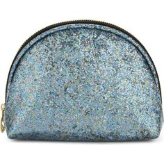SWEET AND SOUR Semi-circle glitter make-up bag ($22) ❤ liked on Polyvore featuring beauty products, beauty accessories, bags & cases, travel kit, travel toiletry case, cosmetic purse, travel bag and makeup purse