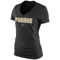 Purdue Boilermakers Nike Women's Arch Mid V-Neck T-Shirt - Black