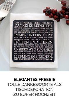 Bedankt euch bei euren Gästen mit edler Tischkarte