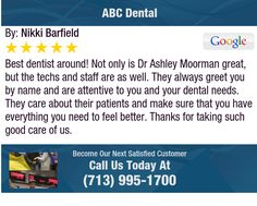 Best dentist around!  Not only is Dr Ashley Moorman great, but the techs and staff are as...