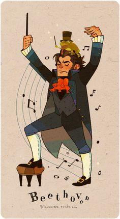 My favorite Classical Musicians. Why me put a frog on his head? Because I just want to draw some cute thing today. Beethoven Music, Sun Projects, Classical Music Composers, Sweet Drawings, Strange Music, Cool Doodles, Chor, Music Aesthetic, Music Activities