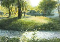 Abe Toshiyuki Watercolor, 30×42cm