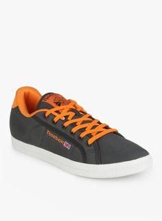 Reebok Npc Court Gray Sneakers  #Reebok, #Gray, #Laceup