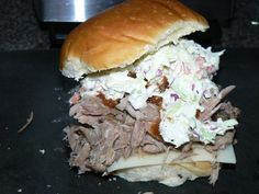 Pulled Pork, Creamy Cole Slaw, Swiss Cheese, and House Russian Dressing on an Egg Roll   Yelp