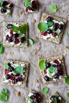 Tartines Cranberries Olives x Jeunes Pousses