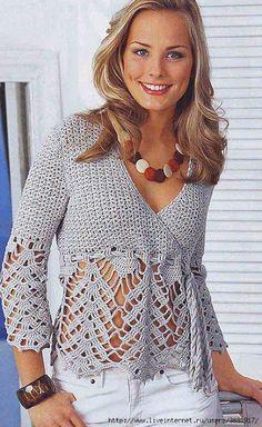 Lace crochet top     Uncinetto d'oro: Bellissima maglietta!!!