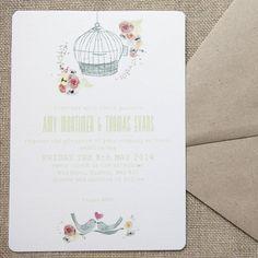 free as a bird wedding stationery by wedding in a teacup   notonthehighstreet.com