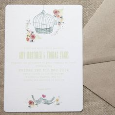 free as a bird wedding stationery by wedding in a teacup | notonthehighstreet.com