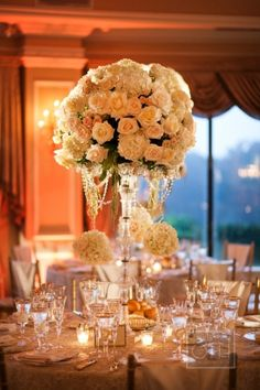 Tall Hydrangea and Rose Arrangement | photography by http://www.christianothstudio.com