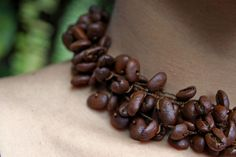 "Coffee Jewelry Necklace ""Coffee Chain"" by Coffee Jewels. via Etsy."