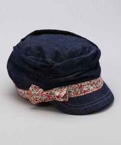 { Denim Floral Military Cap by San Diego Hat Company}