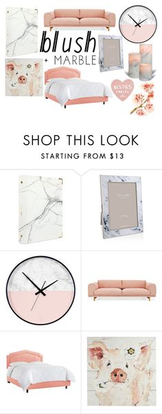 """blush & marble"" by doggyrules on Polyvore featuring interior, interiors, interior design, home, home decor, interior decorating, russell+hazel, Addison Ross, Muuto and Pier 1 Imports"