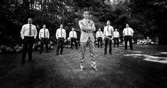 Ausgefallenes und kreatives Gruppenfoto Hochzeitsfotos