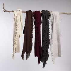 organic + fair trade fluffy cotton tassel scarves from #INDIGENOUS make great #ecogifts