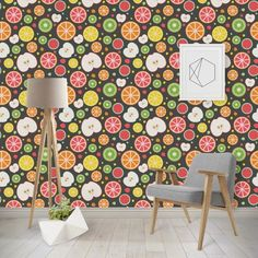Apples & Oranges Wallpaper & Surface Covering (Peel & Stick - Repositionable)