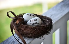 Ring bearer nest...now where to find a ring bearer...