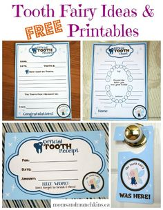 tooth fairy printables FREE when you subscribe to newsletter - these are some of the cutest I have seen (especially for free)