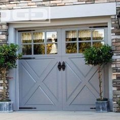 Converted Garage Doors Into French Doors Craft Rooms