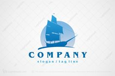 Logo for sale: Old Ship With Sails Logo by LG Staff, uploaded on A very attractive sailing ship with tall masts and huge sails, this logo would be perfectly suited to any kind of merchant or trading company. Ship Logo, Meat Delivery, Trading Company, Travel And Tourism, Sailing Ships, Slogan, Sailboat, Tall Ships