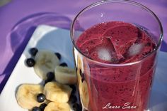Smoothie cu afine Health Fitness, Vegetables, Drinks, Mai, Food, Smoothie, Plant, Drinking, Beverages