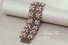 Crescent Beads Bracelet Tutorial Stargazer by SidoniasBeads