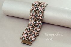 Crescent Beads Bracelet Tutorial Stargazer by SidoniasBeads