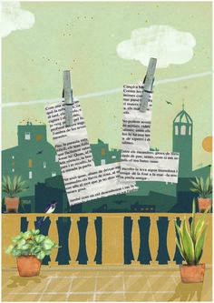"""""""Lletra estesa"""" . Granollers by Vanesa Freixa. #illustration #ilustración #poesia #poetry #arts #literatura #serigraphy #acuarela #watercolor #plants #plantas #terrat #poster #festival #vanesafreixa"""