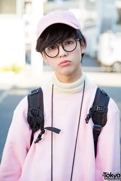 Pink Oversized Mens Sweatshirt from Funktique Harajuku