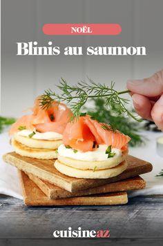 Ces blinis au saumon sont faciles et rapides à cuisiner pour votre apéritif de Noël. #recette#cuisine#aperitif#apero #blinis # saumon #noel#fete#findannee #fetesdefindannee Pancakes, Breakfast, Gourmet, Smoked Salmon, Cooking Food, Meal, Morning Coffee, Pancake, Crepes
