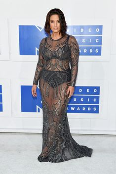 Ashley Graham attends the 2016 MTV Video Music Awards at Madison Square Garden on August 28, 2016 in New York City.