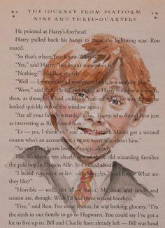 ORIGINAL Watercolor Illustration Harry Potter by TheBookPainter