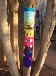 Crochet Yarn bombing spring South Africa