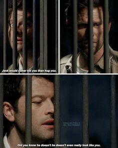 Cas talking about Jack was so beautiful and soft. Also Cas' proud smile when he says Jack resurrected him
