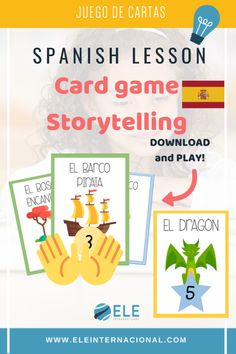 Juego de cartas clase de ELE Spanish, Homeschool, Cards, Ideas, To Tell, Speech And Language, Reading Workshop, School Supplies, Spanish Lessons