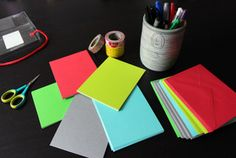 Here's how to take a colorful set of cards, some washi tape, pens and markers you probably already own to create a set of cards to have on hand.