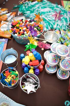 Perez Photography: Kids craft table   via A Practical Wedding