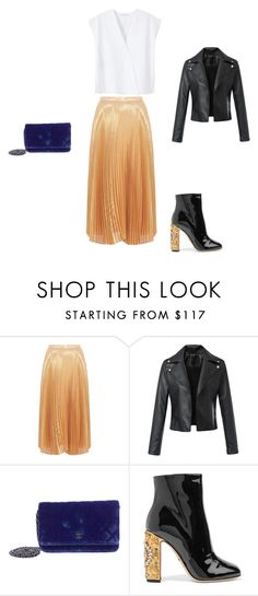 """Untitled #6302"" by explorer-14576312872 ❤ liked on Polyvore featuring Nicole Miller, Chanel, Dolce&Gabbana and MANGO"