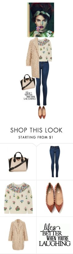"""""""LIFE IS BETTER WHEN YOU ARE LAUGHING"""" by nicolesynth ❤ liked on Polyvore featuring Topshop, Valentino, Elizabeth and James, Behance, women's clothing, women's fashion, women, female, woman and misses"""