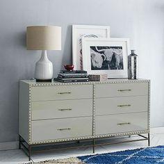 Nailhead 6-Drawer Dresser
