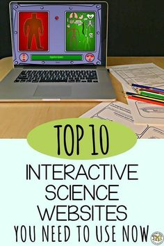 If you\'re looking for something fun to do while teaching science, here\'s our top ten list of interactive websites for scientific learning onderwijs Top Science Websites for Interactive Learning grundschule Biology Lessons, Science Lessons, Science Education, Science Activities, Life Science, Science Experiments, Science Lesson Plans, Science Worksheets, Science Websites For Kids