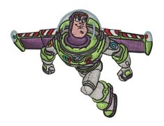 Amazon.com: Disney Toy Story Character Buzz Lightyear II Embroidered Iron on Pixar Movie Patch DS-372: Arts, Crafts & Sewing