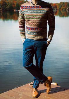 Fair isle jumper.