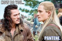 I could totally see Legolas in some amazing pantene commercials...i would so buy it if he did.