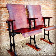 vintage theater seats  – $295 @ A Life Designed!