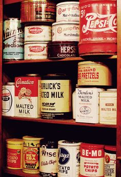 These are in a 1930s general store museum. Wonder what the products looked like…